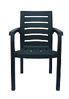 Пластиковое кресло для летнего кафе Жимолость темно-зеленый, фото 1