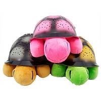 Ночник - проектор черепаха Turtle Night Sky с USB кабелем   светильник РОЗОВЫЙ, фото 1