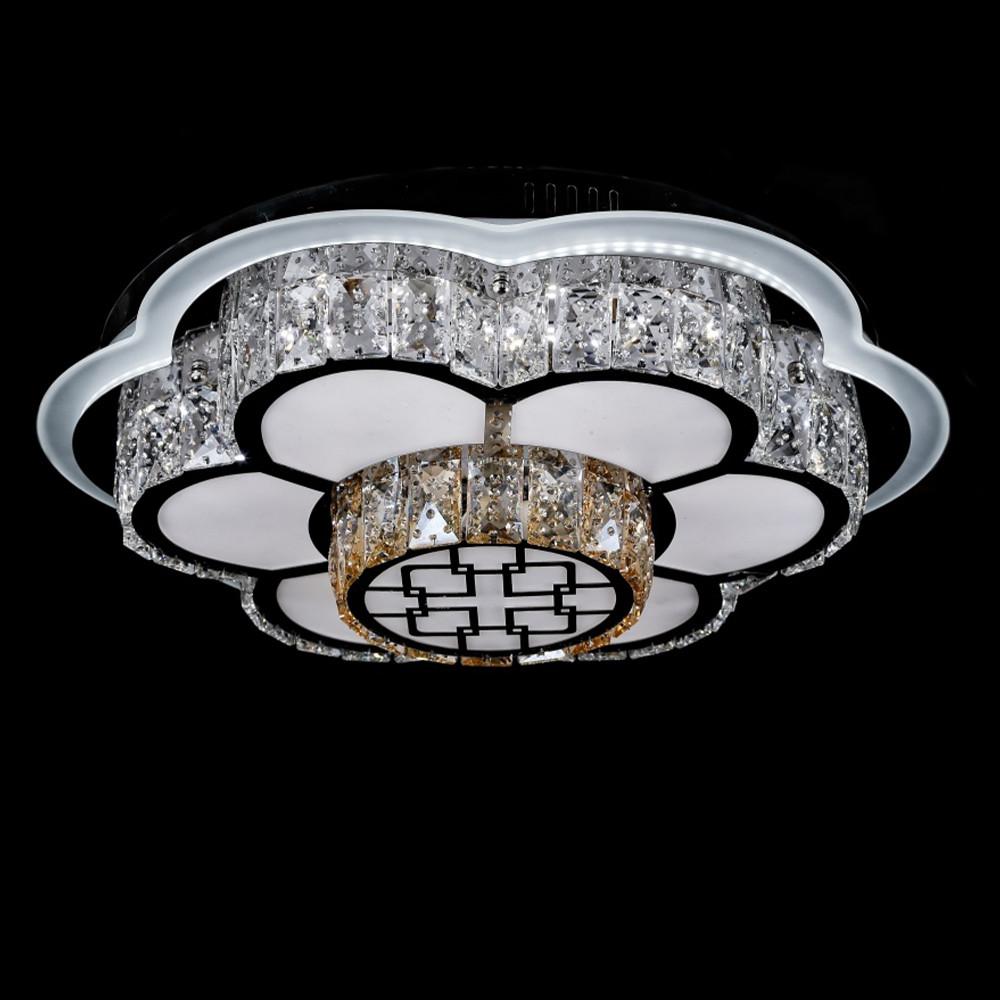 Светодиодная LED люстра СветМира с пультом управления VL-2816/500/6+4    (хромированная)