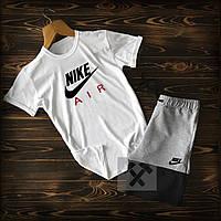 Спортивный костюм футболка Nike Air бело-серого цвета, фото 1
