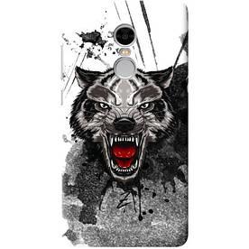 Чехол на Xiaomi Redmi Note 4 Angry Wolf