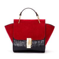 Яркая сумочка с замшевыми вставками. , фото 1