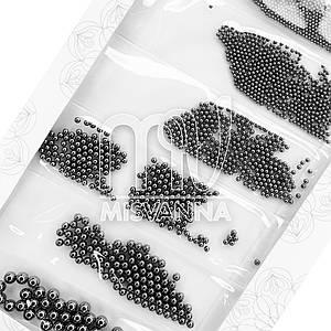 Бульонки микс размеров Starlet Professional d=0.8-2.9 мм черные