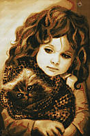 Набор для вышивания крестиком ребенок. Размер: 25,5*38 см