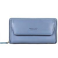 Женский Кошелек Клатч Baellerry Leather (N5509) на Молнии для Карточек с Ремешком Голубой