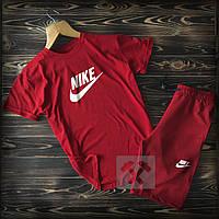 Шорты и футболка Найк красного цвета