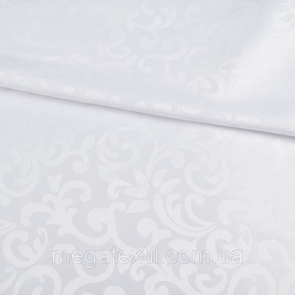 Жаккард скатертный растительный вензель белый, ш.320 (33114.043)