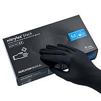 Перчатки нитриловые неопудренные, черные Nitrylex, M. 100 шт.