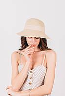 Шляпка слауч Санта песочная, фото 1