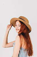 Шляпка федора Мирка капучиновая, фото 1