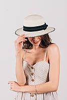 Шляпка канотье Тамила молочная, фото 1