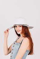 Шляпка широкополая Френсис белая, фото 1