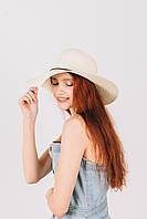 Шляпка широкополая Френсис молочная, фото 1