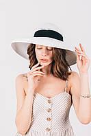 Шляпка широкополая Лучиано белая, фото 1