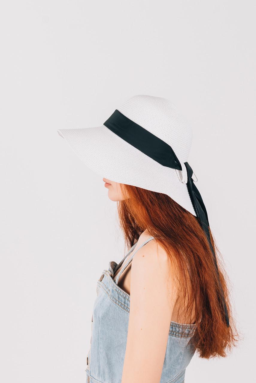Шляпка широкополая Паола белая