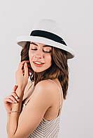 Шляпка слауч Итэлия белая, фото 1