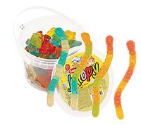 """Желейные конфеты Jellopy Червячки пл/б, 1/4г/600г/12шт ТМ """"Saadet"""""""