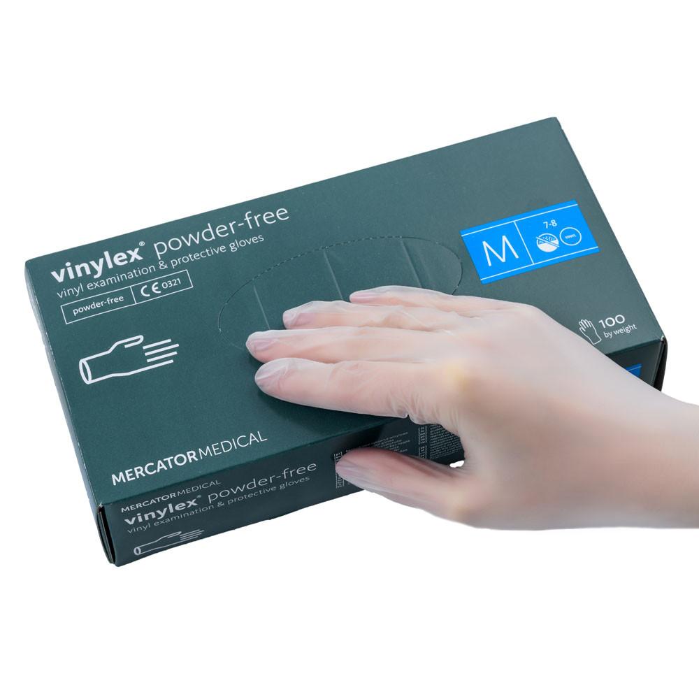 Перчатки виниловые неопудренные  Ideall / VINYLEX PF М,100 шт.