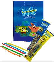 Мармеладные конфеты в виде палочки в сахаре Sponge Bob со вкусом Ассорти к/в,1/35г/24шт/8шт ТМ
