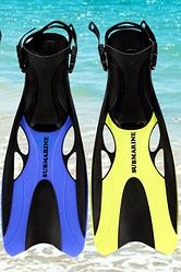 Ласты для плавания SUBMARINE  с открытой пяткой,  регулируемым ремешком (37 - 47 размер).