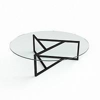 Стеклянный журнальный столик Глобус