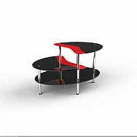 Стеклянный журнальный столик Хела2 люкс