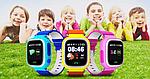 Умные детские смарт часы с GPS Smart Baby Watch Q80 СИНИЕ, фото 10