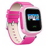 Умные детские смарт часы с GPS Smart Baby Watch Q80 РОЗОВЫЕ, фото 2