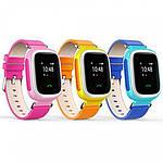 Умные детские смарт часы с GPS Smart Baby Watch Q80 РОЗОВЫЕ, фото 3