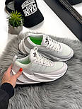 Женские кроссовки Adidas Shark Boost White. Живое фото. Реплика, фото 7