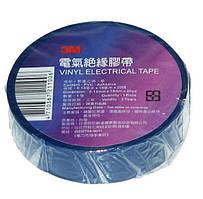 Стрічка ізоляційна 3M синя (19мм х 0,13 х 20м) (уп. 10 шт.) (25 ярд.=23м) оригинал Китай