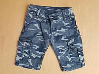 Бриджи детские камуфляжные для мальчика, 3-7 лет, синего цвета, фото 1