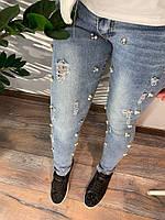 Зауженные женские джинсы, фото 1