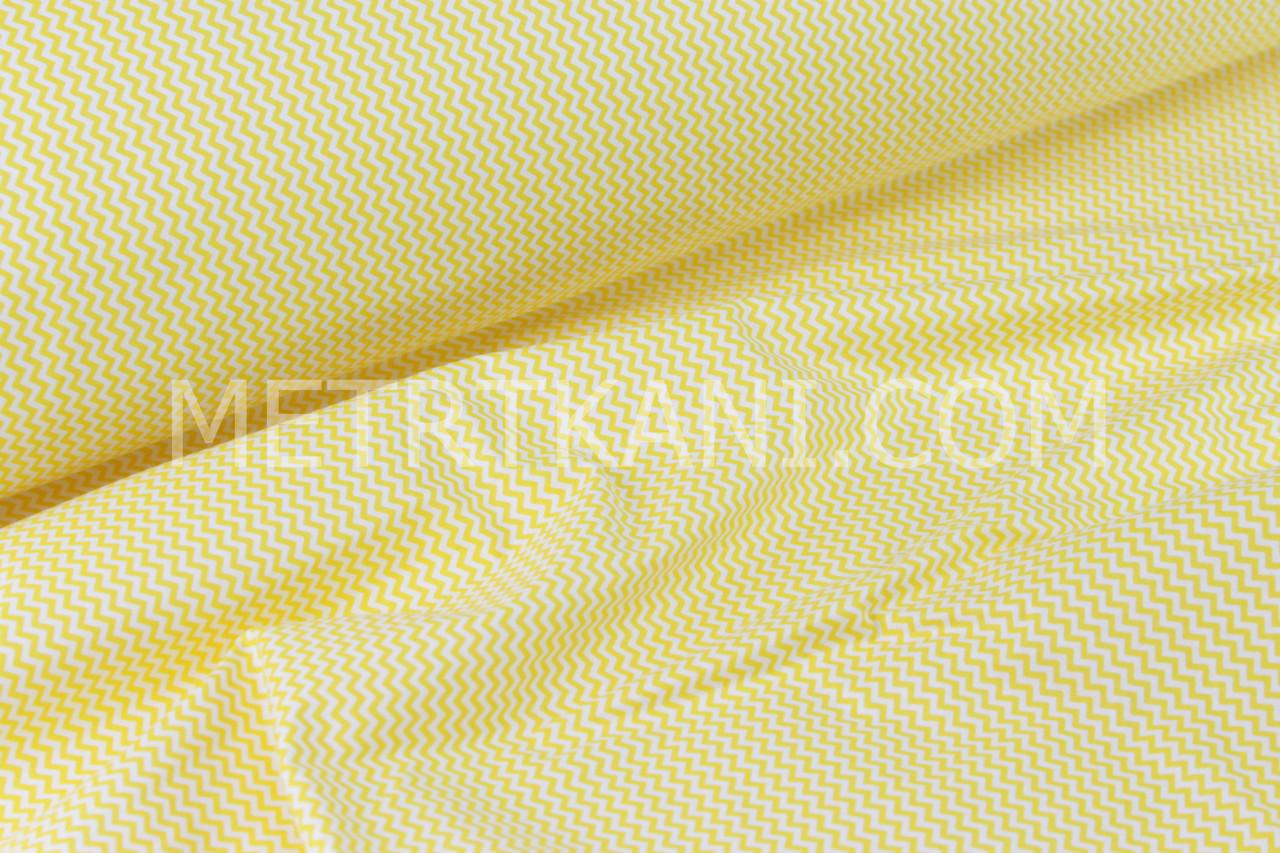 Ткань бязь зигзаг мини  желтый 7мм  №115