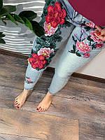 Стильные джинсы с яркой аппликацией, фото 1
