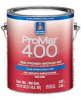"""Краска ProMar 400 Eg-Shel Sherwin-Williams интерьерная экстра белая с эффектом """"яичной скорлупы"""", 3,66л"""