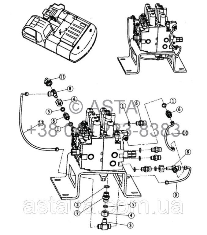 Проводка главного клапана 4 21 12200 00 31-3 на Jonyang 230E