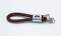 Брелок плетеный с логотипом INFINITY плетеный берлок с логотипом инфинити для автомобилиста+ карабин/черно-красный