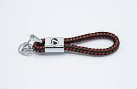 Брелок плетеный с логотипом LEXUS плетеный берлок с логотипом лексус для автомобилиста + карабин/черно-красный