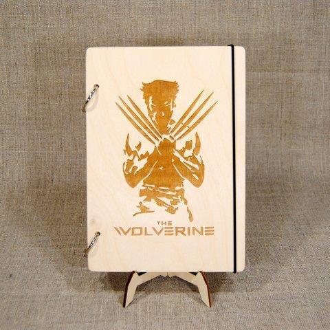 Скетчбук В6. Блокнот с деревянной обложкой.