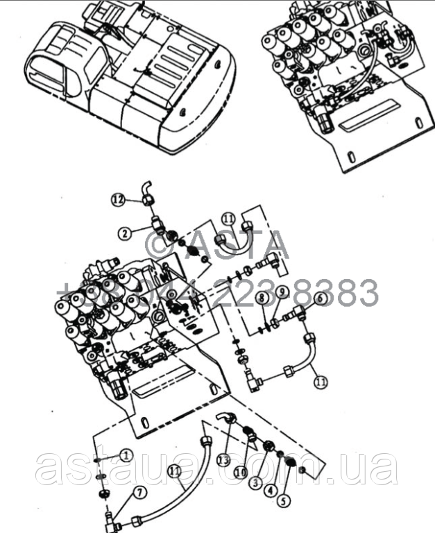 Проводка главного клапана 6 21 12200 00 31-5 на Jonyang 230E