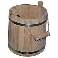 Ведро для бани, 15 л дубовое (NS)