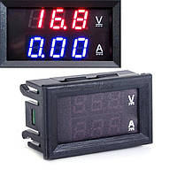 2 в 1 Амперметр 10А(до 50А с шунтом, в комплекте не идёт) + вольтметр DC 0-100V, красная индикация