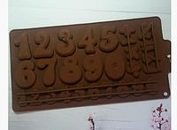 Молд силиконовый кондитерский для шоколада карамели мастики цифры