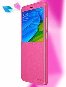 Чохол книжка Nillkin для Xiaomi Redmi Note 5 / Note 5 pro Рожевий
