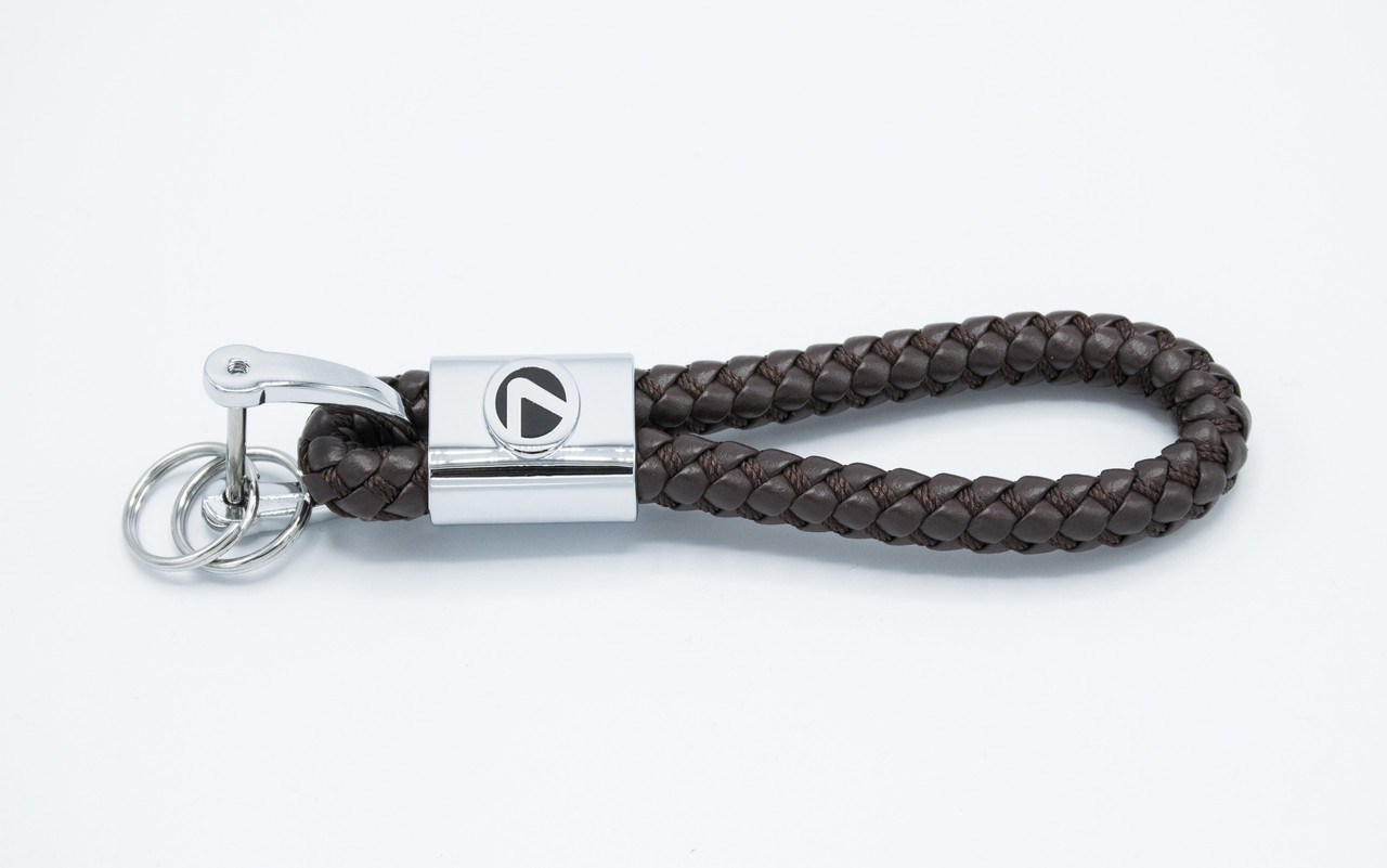 Брелок плетеный с логотипом LEXUS плетеный берлок с логотипом лексус для автомобилиста + карабин/коричневый