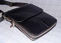 Мужская сумка Gorangd 8601-2 черная искусственная кожа
