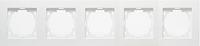Рамка 5 постов Nilson Touran - белая