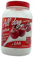 All Day Protein уникальное сочетание сывороточного белкового концентрата с экзогенными аминокислотами,