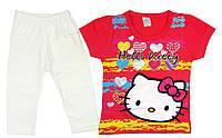 Летний детский комплект для девочки Hello Kitty